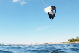 Kiteboarding board-off in the Swedish Archipelago