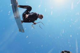 Kitesurfing jump in the Swedish Archipelago